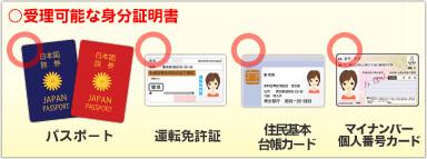 DXLIVE登録で使える身分証